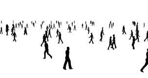 人剪影人群在白色背景走 向量例证