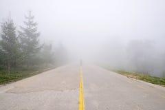 人剪影有薄雾的雾的 库存图片