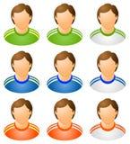 人力图标被设置的体育运动 免版税库存图片