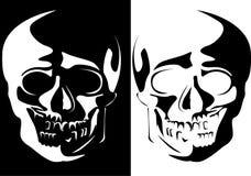 人力图象头骨向量 图库摄影