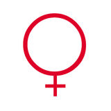 人力女性符号 免版税库存图片