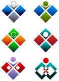 人力徽标正方形 图库摄影