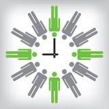 人力时钟概念性例证 免版税库存照片