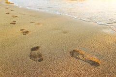 人力沙子跟踪 免版税库存图片