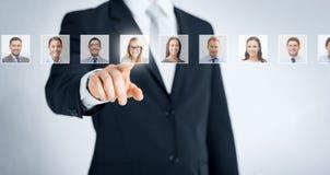 人力资源、事业和补充概念 图库摄影