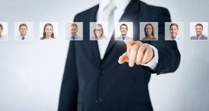 人力资源、事业和补充概念 免版税库存图片