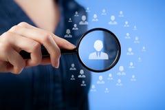 人力资源和客户关系管理 免版税库存图片