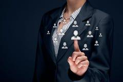 人力资源和客户关系管理 库存图片