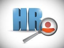 人力资源回顾例证设计 免版税图库摄影