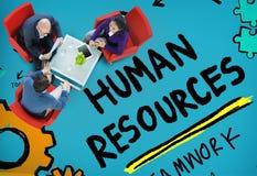 人力资源就业工作补充行业概念 免版税库存照片