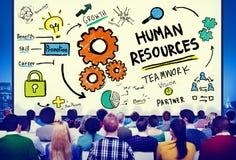 人力资源就业工作补充行业概念 图库摄影
