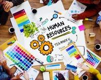 人力资源就业设计小组概念 库存照片