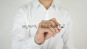 人力资源,写在玻璃 库存照片