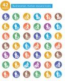 人力资源, Businessma n象,五颜六色的版本 免版税图库摄影