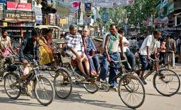 人力车印度 库存图片