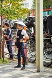 人力车服务人一项地方车和服务在Sensoji寺庙著名寺庙在东京 免版税库存照片