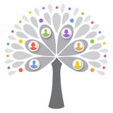 人力结构树 库存照片