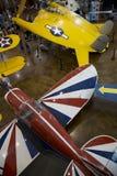 人参观边境飞行博物馆达拉斯 免版税库存照片