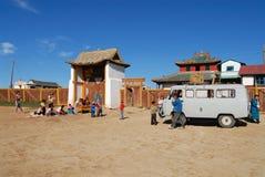 人参观Erdene Zuu修道院在Kharkhorin,蒙古 库存图片