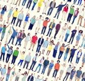 人变化成功庆祝公共人群概念 图库摄影