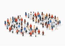 人口人口统计学报告,圆形统计图表组成由人 分开的小组 皇族释放例证