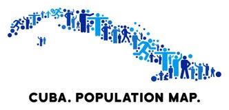 人口统计学古巴地图 皇族释放例证