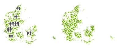 人口统计学和环境丹麦地图 皇族释放例证