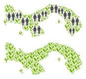 人口统计学和环境巴拿马地图 库存例证