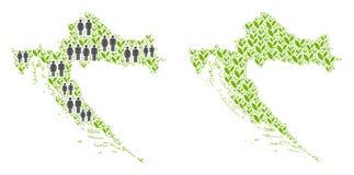 人口统计学和种植园克罗地亚地图 皇族释放例证