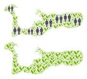 人口统计学和自然大开曼海岛地图 向量例证