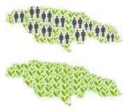 人口统计学和自然牙买加地图 向量例证
