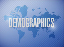 人口统计学标志例证设计 库存例证