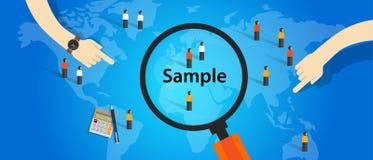 从人口统计研究调查方法学选择概念的样品 向量例证
