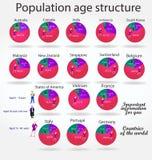 人口年龄结构 免版税库存图片