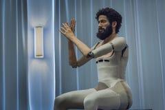 人同样的机器人 免版税库存照片