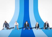 人和企业竞争概念 图库摄影