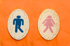 人和夫人洗手间标志 免版税库存图片