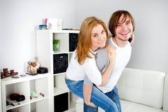 人和女朋友 图库摄影