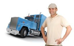 人和拖车 图库摄影