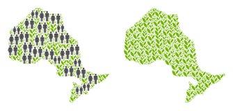 人和种植园安大略省地图 向量例证