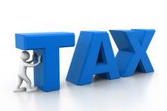 人和税 免版税库存图片