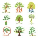 人和结构树图标 库存例证