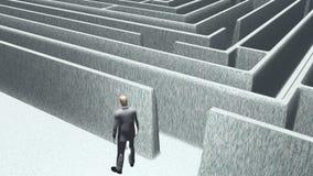 人和迷宫 免版税库存照片