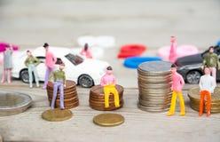 人和货币业务概念 免版税库存照片
