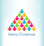 人圣诞节颜色树 库存照片