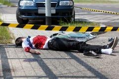 人在中车祸丧生 免版税图库摄影