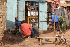 人在乌干达 库存图片