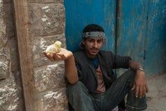 年轻人在也门 免版税图库摄影