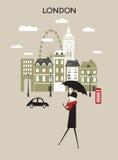 人在伦敦。 库存图片