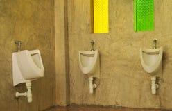 人在咖啡店的` s洗手间 免版税库存图片